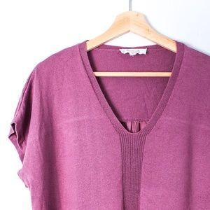 Two by Vince Camuto purple top back silk
